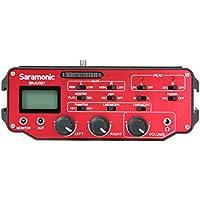 Saramonic SR-AX107 2 Channel Transformer XLR Audio Adapter with Phantom Power & Monitor (Red/Black)