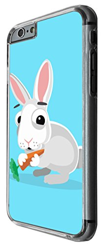 1156 - Cute Fun Rabbit Animal Drawing Blue Design For iphone 5 5S Fashion Trend CASE Back COVER Plastic&Thin Metal -Clear
