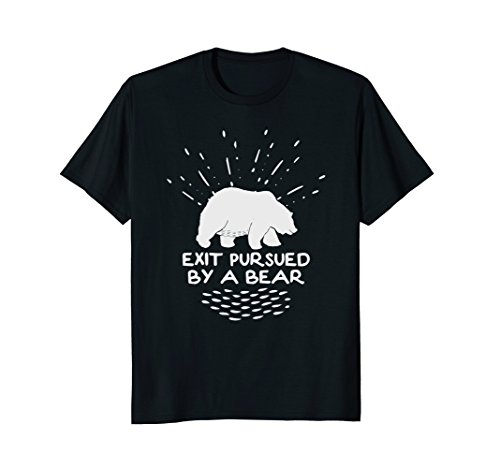 Exit Pursued By a Bear - Funny Shakespeare - Winter Shirt (Exit Stage Left Pursued By A Bear)