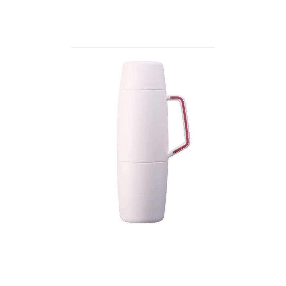 8haowenjuguan 新製品断熱ポット、家庭用大容量、ポータブルサーモスカップ、男性と女性用316ステンレス鋼の屋外旅行湯たんぽ、瑪瑙黒、スカイグレー、チェリーパウダー、アイボリーホワイト、1000ml 大容量断熱ポット (Color : White) B07RTQZ4ZZ White