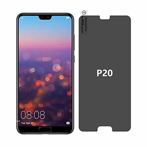 For Huawei P20 Privacy Glass Screen Protector - Full Coverage Tempered Glass Screen Protector [2 PACK] For Huawei P20 Anti-spy 9H Hardness Front Glas Screen Protector