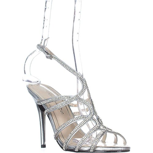 Caparros Womens Flat Sandals, Silver Metallic, Size 8.0