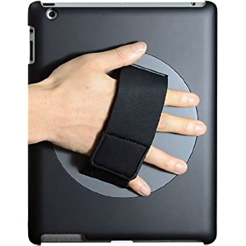 LapWorks Soft Grip iPad Handle for iPad 2, 3 and 4 with 360 Degree Swiveling and Smart Cover Channel