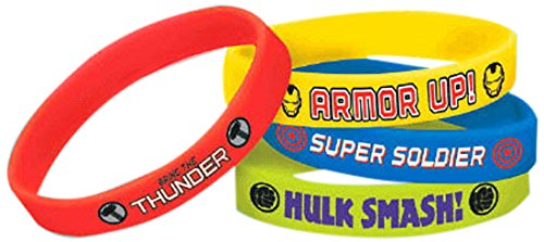 Amscan (Amsdd Childrens-Shaped-Rubber-Wristbands , 24 Pieces