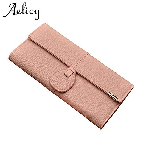 Amazon.com: Luxury Leather Wallets Women Brand Purses Woman Wallet Long Hasp Female Purse Card Holder Clutch Carteira Masculina: Kitchen & Dining