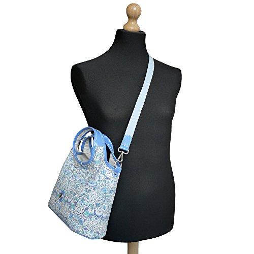 Bonfanti Liberty Lodden Imprimer grab sac fourre-tout Sac à main épaule - Bleu
