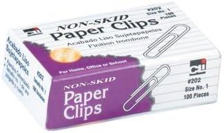 Charles Leonard Inc. Clips de papel antideslizantes, 100 por caja (202) por Charles Leonard: Amazon.es: Oficina y papelería