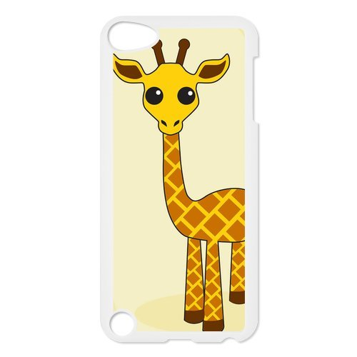 Black/White Sides Classic Style Custom Unique Giraffe Design Skin Cover Case for iPod Touch 5th Durable Plastic iPod 5 Case