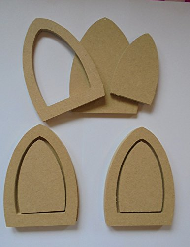 pack of 3 x Blank MDF Wood Elf/Fairy Doors **READY TO PAINT ...