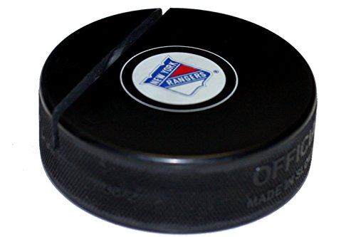 EBINGERS PLACE New York Rangers Hockey Puck Business Card Holder