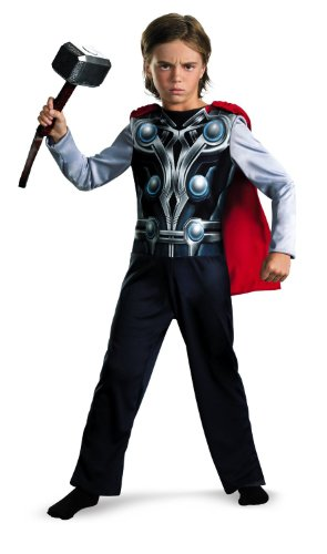 Thor Fancy Dress Costumes (Thor Avengers Basic Costume, Small 4-6)
