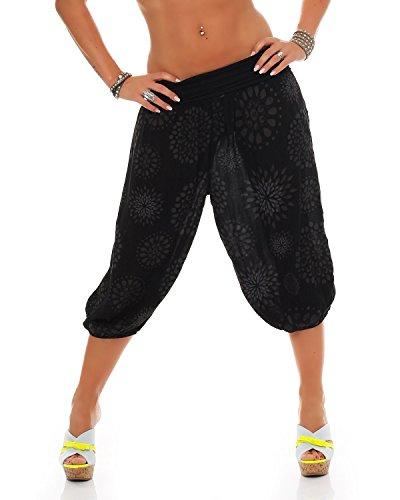 stile Aladin 3 breve Pants Capri estate al yoga Nero ZARMEXX Harem Signore 4 di dei Taglia pantaloni bloomers ginocchio 1zz6Bq