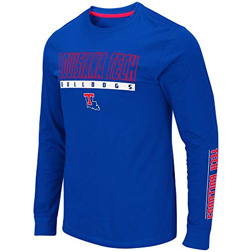 Colosseum Mens Louisiana Tech Bulldogs Guam Long Sleeve Tee Shirt - 2XL