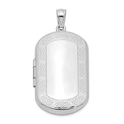 Sonia Jewels Sterling Silver Celtic Border Rectangular Locket (19mm x 30mm)