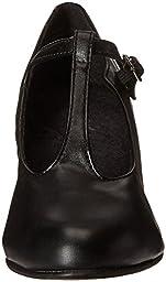 Capezio Jr. Footlight T-Strap Black Dance Shoe - 8 M US