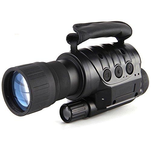 ランフィー 6x50 屋外デジタルナイトビジョン望遠鏡赤外線の HD 明確なビジョン単眼デバイス光学レンズ眼鏡の撮影のためのビデオ出力を記録します。キャンプハイキング旅行ハンティング B07CWLVGV7