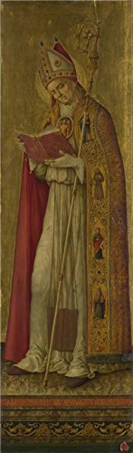 r Canvas ,the Reproductions Art Decorative Canvas Prints Of Oil Painting 'Benvenuto Di Giovanni - Saint Nicholas,1479', 24x82 Inch / 61x208 Cm Is Best For Home Office Artwork And Home Decor And Gifts (1479 Santa)