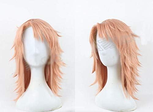 耐熱コスプレウィッグ 剣士風 ウィッグ wig かつら (ピンク風)