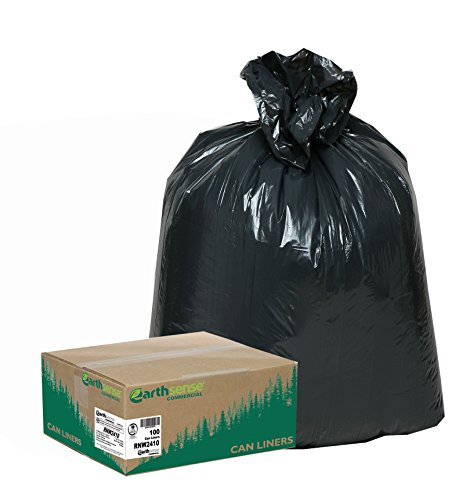 - Earthsense Commercial  RNW2410 Can Liner 24x23,  7-10 Gal, .85 mil, Black,  (Case of 500)
