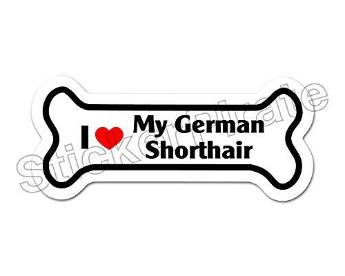 *Dog Bone Magnet* I Love My German Shorthair Car Truck Locker (German Shorthair Magnet)