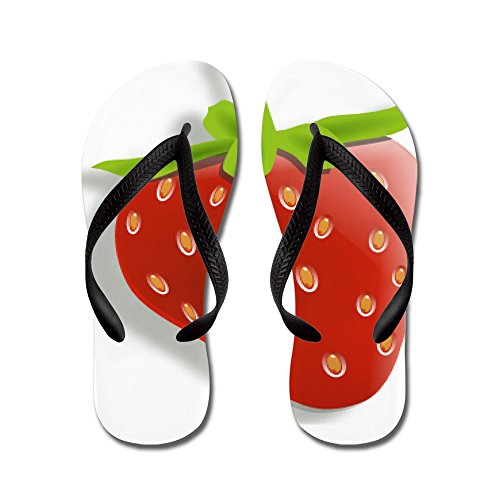 Cafepress Strawberry - Tongs, Sandales Rigolotes, Sandales De Plage Noir