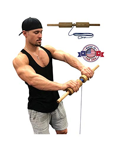 (Wrist Blaster - Forearm, Hand and Wrist Roll and Twist Exerciser Fat Grip (2.5 Inches, Cylinder))