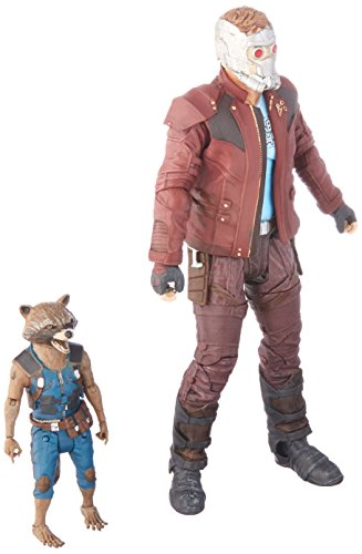 DIAMOND SELECT TOYS Marvel Select Guardians of The Galaxy 2 Star-Lord & Rocket Action Figure