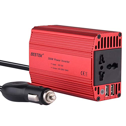 BESTEK 300W Power Inverter DC 12V to 220V AC Car Inverter