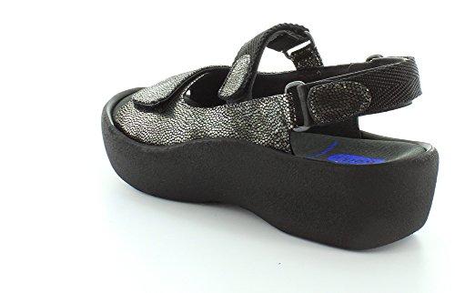 Womens Jewel Sandals Black Wolky Caviar Leather Cnx5Hw
