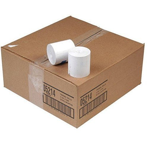 Thermamark RPT3.125-STD-CASE Thermal Receipt Paper, 3.125'' Width x 230' Length, 7/16'' Core (Pack of 50)