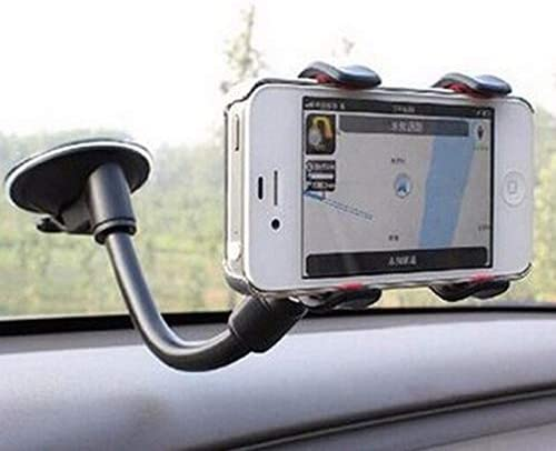 Rui Peng 携帯電話スタンド - ユニバーサル双頭車のフロントガラスサクションカップタイプ携帯電話ホルダーカーナビゲーション用ブラケット角度調整