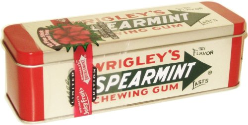 (Wrigley Spearmint Heritage Collectible Chewing Gum Tin)