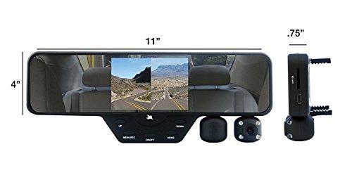 Falcon Zero F360 Hd Dvr Dual 1080p 3 5 Inch Color Tft Rear View Mirror Lcd Dash Cam