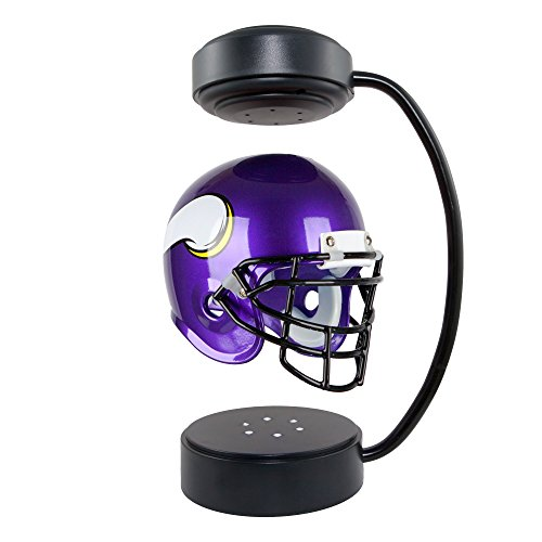 NFL Hover Helmet - Collectible Levitating Football Helmet with Electromagnetic Stand, Minnesota Vikings