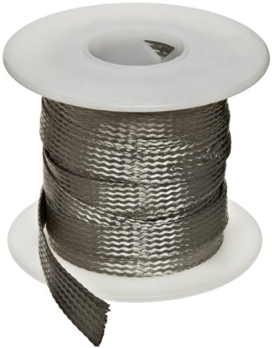 Flat Tinned Copper Braid, Bright, 1/8