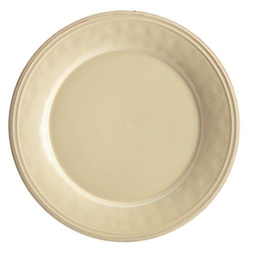 Rachael Ray Cucina Dinnerware 10-1/2-Inch Stoneware Dinner Plate, Almond Cream