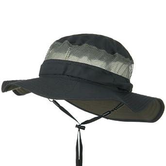 e7c83688 Juniper UV 50+ Side Mesh Talson Bucket Hat - Charcoal at Amazon ...