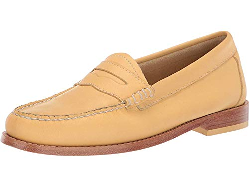 G.H. Bass & Co. Women's Whitney Weejuns Yellow Leather 9.5 M US