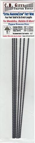 Mandolin/Ukelele Fret Wire - Jescar Extra Narrow/Low Stainless Steel - Four Feet (Ukulele Fret Wire)