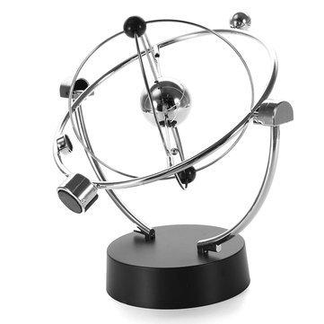 (Unending Move - Silver Orbital Desk Decoration Celestial Newton Pendulum - Continuou Incessant Apparent Movement Unceasing Motion Eternal Gesture Continual Lasting - 1PCs)