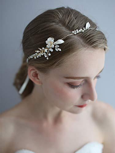 Headpiece Wedding Hair Vine Bride Accessories Diamante Headband Pearl Crystal