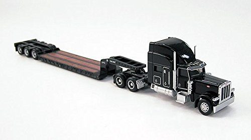 389 with Trail King Lowboy Trailer by Norscot (Peterbilt Diecast)