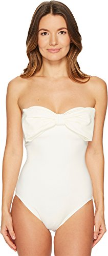 Kate Spade New York Women's Bow Swimsuit, Cream, X-Small by Kate Spade New York