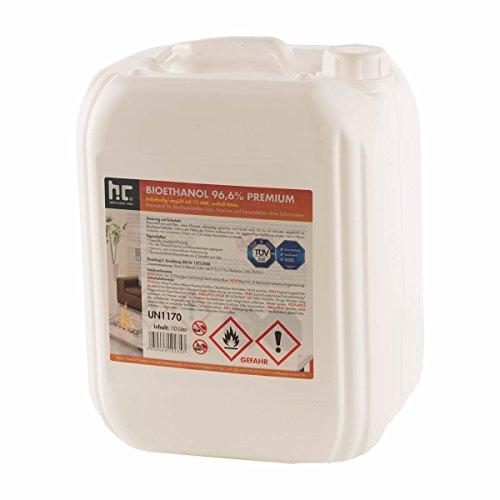 1 x 10 L Bio Ethanol Premium 96,6% für Kamin - versandkostenfrei - im handlichen 10 L Kanister - TÜV SÜD zertifiziert