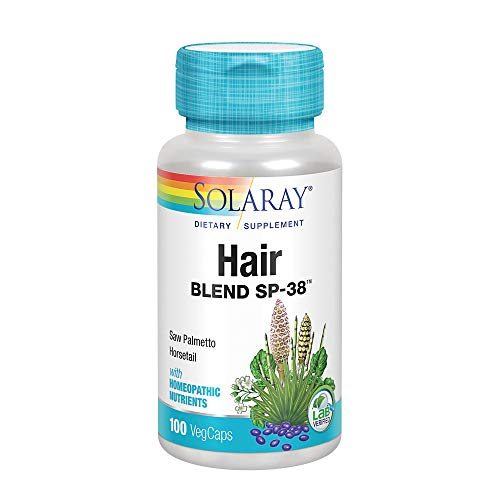(Solaray Hair Blend SP-38 Capsules, 100 Count)