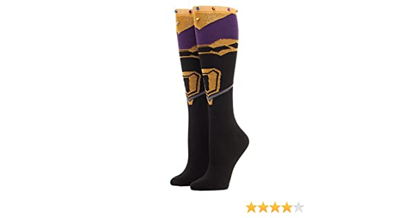 7fc3bde0cea Amazon.com  Marvel Avengers  Infinity War Thanos Gauntlet Infinity Gem Knee  High Socks  Clothing
