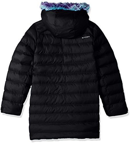 Faux Jacket Down Spyder Girl's Black Glam Fur 84wxgRnfq