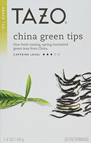 Tazo China Green Tips Green Tea - 20 count (Pack of 6) 1.4 oz each/Net Wt 8.46 Oz