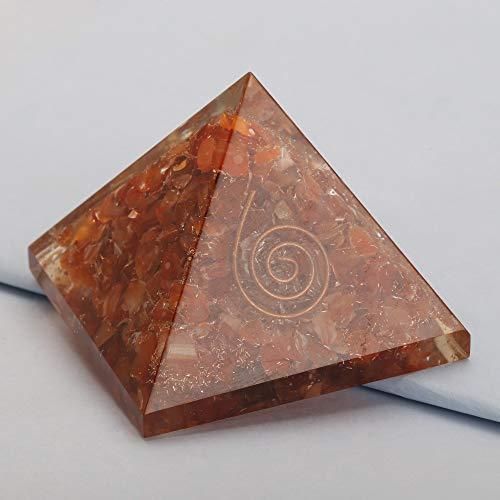 - Energy Generator Carnelian Orgone Pyramid EMF Protection Healing Crystal