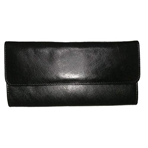 98e70216ddd2 Amazon.com: Ladies fashion slim design Handmade soft Leather Wallet Card  Holder color Black: Handmade
